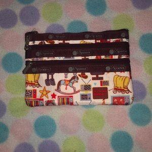 LeSportsac three zip cosmetic buckaroo too